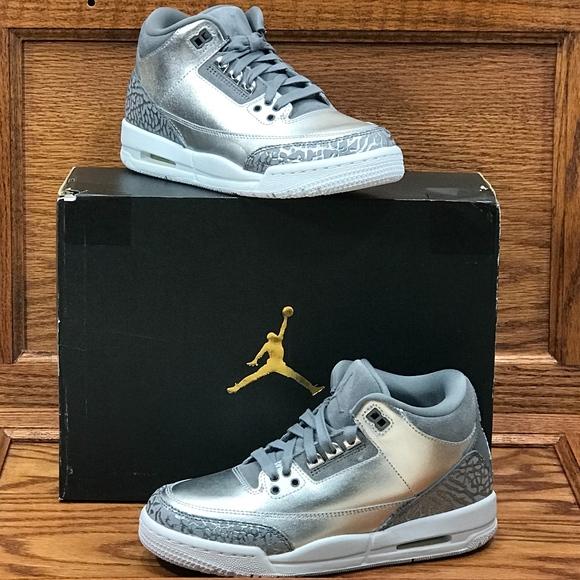 timeless design 04ca0 4523c Air Jordan 3 Retro Prem HC Metallic Silver Grey NWT